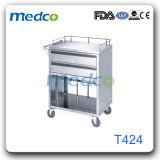 病院のステンレス鋼の忍耐強い薬のトロリー