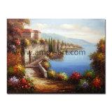 El paisaje mediterráneo hechas a mano de pintura al óleo para la decoración del hogar