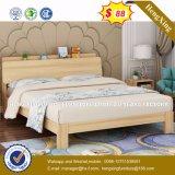 Гостиную мебелью из цельной древесины двуспальная кровать оптовая торговля (HX-8NR0635)