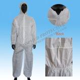 使い捨て可能なPPまたはSMSのNonwoven保護つなぎ服