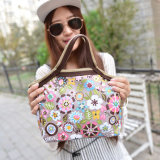 Le déjeuner portatif de fleur de mode met en sac l'expédition de goutte des sacs 0210 de mémoire de nourriture de déjeuner de paquet de déjeuner