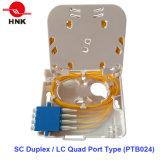 1 portas de terminação para cabo de fibra óptica de Caixa com tampa transparente
