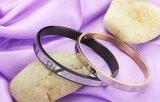 De Gift van de Dag van de Ware van de Liefde van de manier van de Armband van het Paar van de Minnaars Zwarte Gouden van het Plateren IP/Rose van het Roestvrij staal van de Armbanden Valentijnskaart van de Armbanden