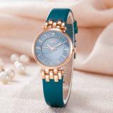 Reloj de manera vendedor caliente del ODM del OEM del reloj de la fábrica de la correa de cuero (Wy-121B)