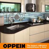 Champagne Eco-Friendly Oppein Luz Acrílico armário de cozinha (OP14-057)