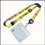 IDの帯出登録者が付いている安く印刷された黒いカラー顧客用締縄