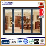 Складчатость и раздвижная дверь патио алюминиевого двойника рамки стеклянные