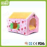 Casa de perro y casa de gato al aire libre cómoda de color rosa
