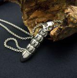 Ювелирные изделия способа типа ожерелья людей картины черепа пули привесные панковские