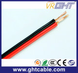 Rojo y negro cable flexible transparente del altavoz (conductor de 2X1.0mmsq CCA)
