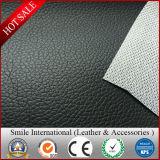 0.7-1.2mmの工場製造の網の裏付けPVC革Lichiデザイン標準的で、熱い販売の厚さ