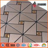 Матовый алюминий серебристого цвета декоративных настенных панелей (IDEABOND)