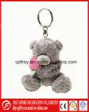Jouet aimable d'ours de nounours de trousseau de clés de peluche avec le porte-clés