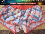 Tissu élastique en polyester pour pantalons de plage, Tissu en élasthanne en polyester Pringting