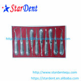 O melhor tipo dental de venda do punho do aço inoxidável do elevador da raiz (10PCS/set)