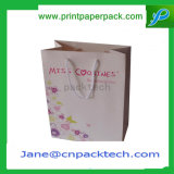 Подгонянный мешок Kraft разработанной хозяйственной сумки одеяния подарка несущей бумажный