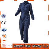 Combinaison 35%Cotton et 65%Polyester bleue de chemises d'usine de la Chine longue