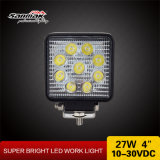 "La calidad competitiva 4 "" 27W impermeabiliza la luz de trabajo del cuadrado del CREE LED"
