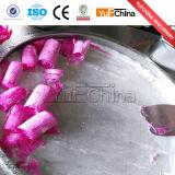 良質の平らな鍋によって揚げられているアイスクリーム機械価格