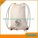 Acepte la orden de encargo y el lazo del lazo y la manija Bolso blanco puro del algodón
