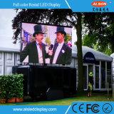 Alta visualización video al aire libre del alquiler LED del rendimiento P4.81 para el concierto