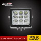 Avalancha de protección IP68 90W y 6 pulgadas de luz LED de trabajo para uso intensivo