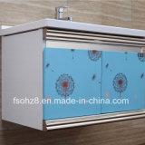 単にしかし棚との現代ステンレス鋼の浴室の虚栄心
