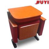 Proveedor de confianza las patas de acero cubierta de tela acolchado del respaldo plegables de conferencias de actualización audiencia utiliza sillas plegables de madera