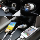 2.4A telefone portátil USB duplo carro Chager para telemóvel