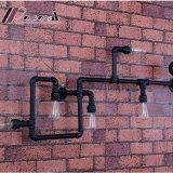 Tubulações de água de ferro criativa moderna luz de parede para bar
