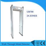 Сетевая функция ходьбы через металлоискатель с 7-дюймовый широкоформатный экран