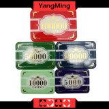 Высокосортный набор микросхем покера кроны/изготовленный на заказ пластичный акриловый набор микросхем казина с алюминиевым случаем Ym-Scma001