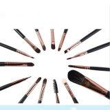 Ensemble de brosses de maquillage professionnel 15PCS pour sourcils pour oeil d'oeil Eyeyrow