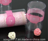 Cilindro transparente descartável do PVC