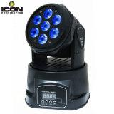 7X15W 6in1 RGBWA+UV kleines bewegliches Hauptlicht für Disco