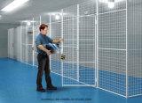 Seguridad Esgrima largo movible con ruedas de reparto de alambre de malla Taller