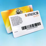 13,56 MIFARE Classic EV1 4K Smart tarjeta de membresía con código de barras