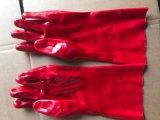 Gant de travail rouge travaillant avec homologation CE (SQ-017)