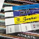 Bracelete descartável da identificação do wristband RFID de TicketTYVEK NFC do festival do evento