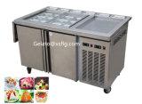 Machine frite manuelle de crême glacée de roulis