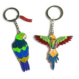 Souvenir Gift- Color Esmalte Metal Chaveiro Chaveiro Glitter Woodpecker Glitter Chaveiro Keyrings Key Holder