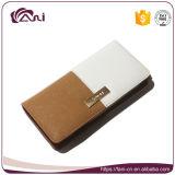 Бумажник застежки -молнии типа нового бумажника PU цвета контраста бумажника женщин типа кожаный длинний для повелительницы