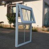 Het witte Dubbele Glas van het Venster van het Profiel van de Kleur UPVC Afbaardende met Net K02062