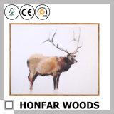 Pittura animale di arte della decorazione del blocco per grafici di legno del Brown