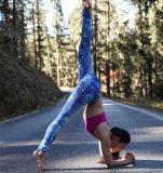 Mujer 92 poliester 8 polainas de gimnasia de sublimación personalizado Spandex
