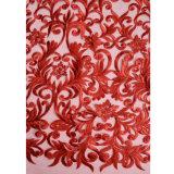 Commerce de gros l'organza robe de mariée de tissu de dentelle Net