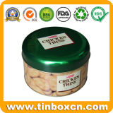 Contenitore rotondo di stagno per il contenitore impaccante di regalo del metallo, contenitore dello stagno dell'alimento, barattolo di latta