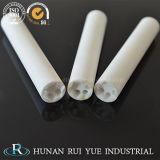 99.7% tubi di ceramica a temperatura elevata 1800c di elevata purezza Al2O3