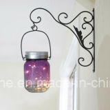 LED Solar Warm White Color Firefly Jar Lights para o Natal