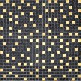 Mosaico de vidrio de color negro para la decoración
